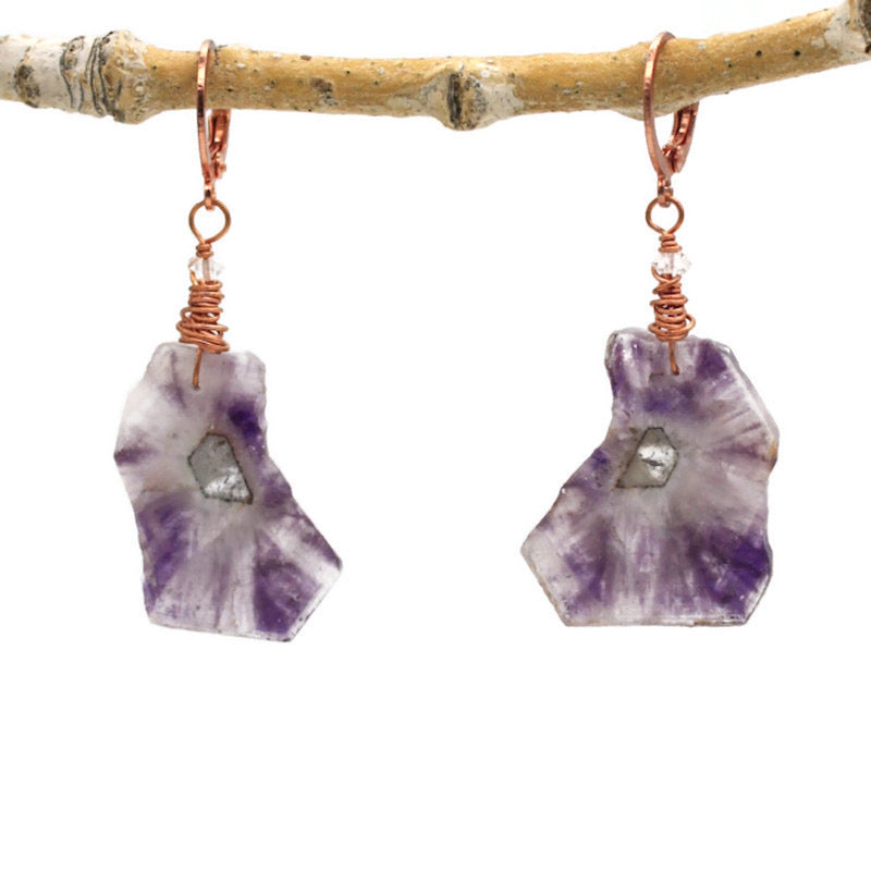 Trapiche Amethyst Earrings