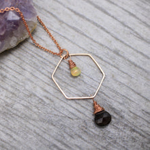 Load image into Gallery viewer, Ethiopian Opal and Smoky Quartz Necklace