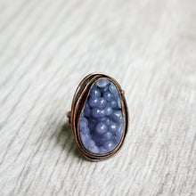 Load image into Gallery viewer, Copper and Grape Agate Ring