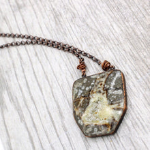 Load image into Gallery viewer, Copper and Septarian Necklace
