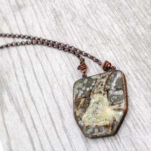 Copper and Septarian Necklace