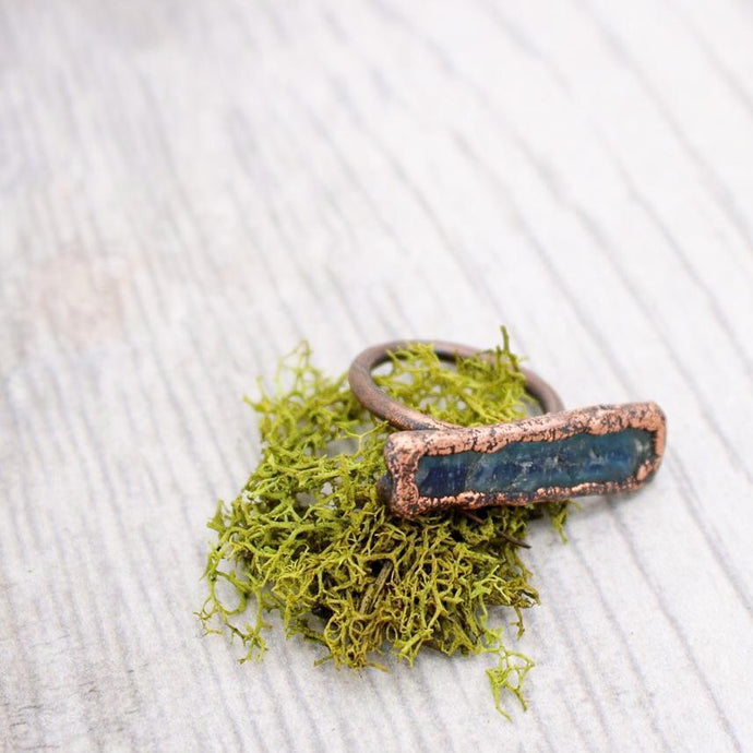 Copper and Kyanite Ring