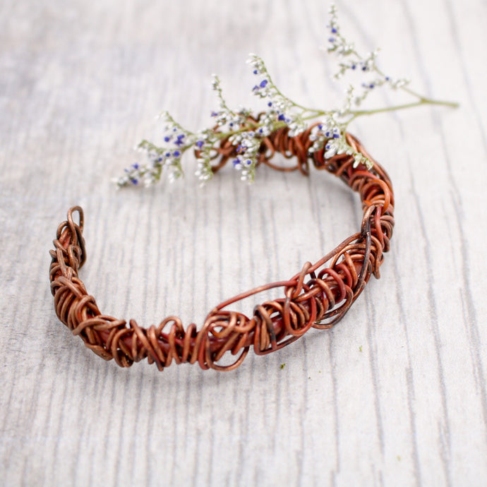 Copper Wire Wrap Bracelet