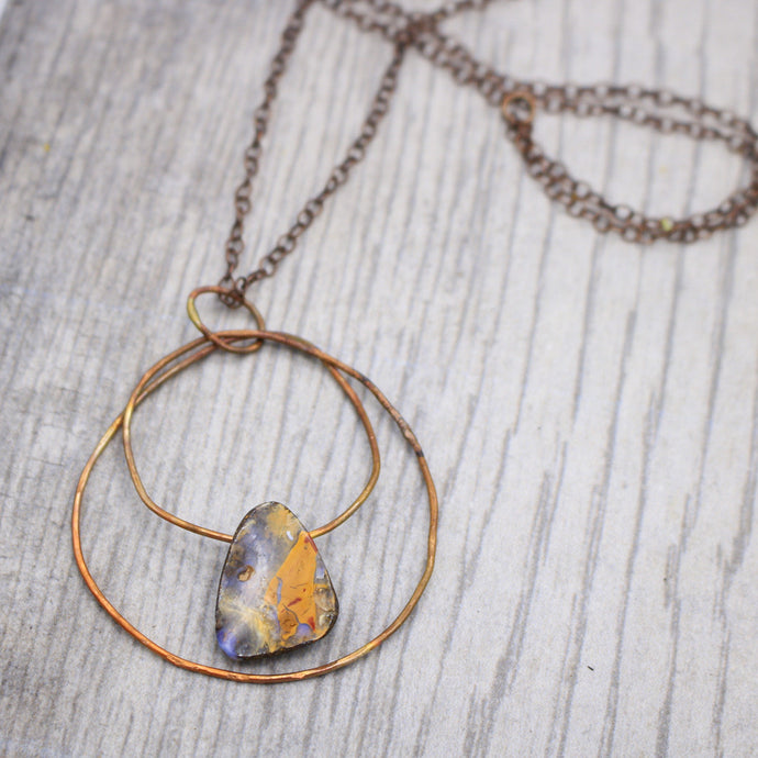 Boulder Opal and Copper Necklace