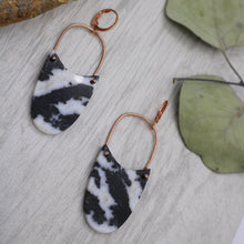 Load image into Gallery viewer, Zebra Jasper and Copper Earrings