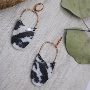 Zebra Jasper and Copper Earrings