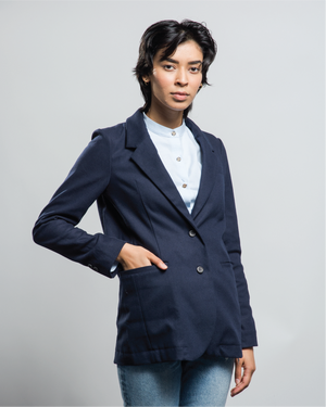 Mahoney Faux-Wool Suit Jacket