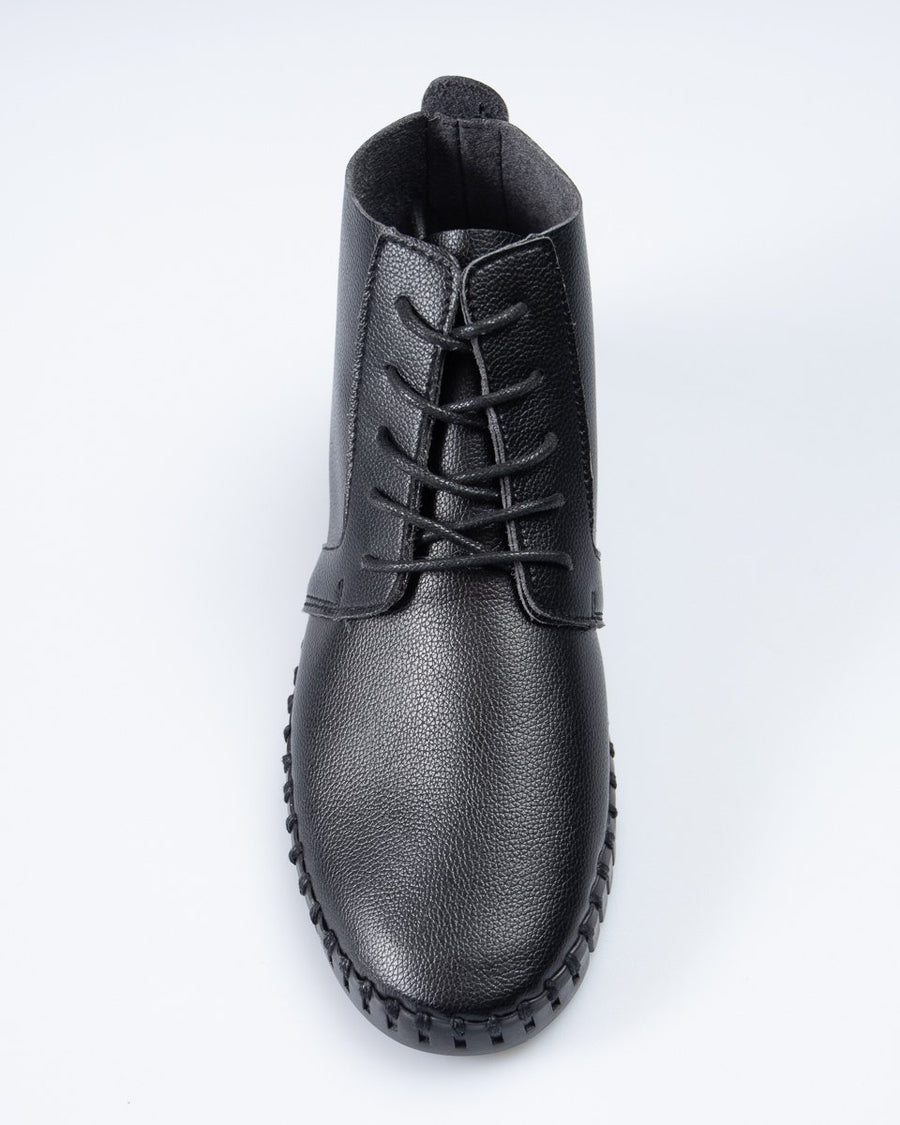 Saw-Tooth Chukka Boot - Black