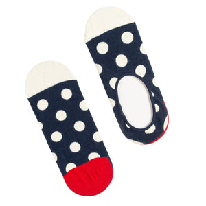 Navy Dots Liner Socks