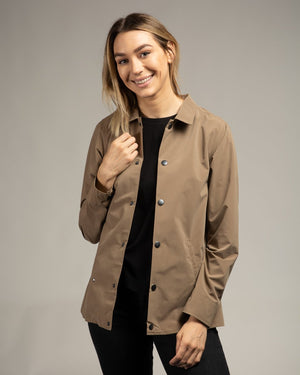 Driftwood Sueded Coach's Jacket