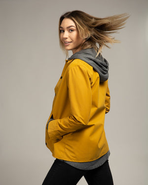 Autumn Gold Sueded Coach's Jacket