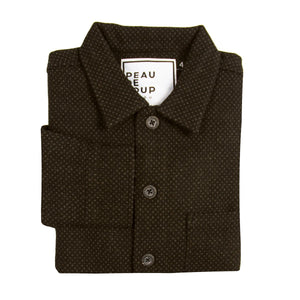 Car Coat - Brown Pindot