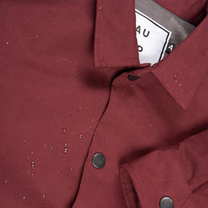 Mulled Wine Sueded Coach's Jacket