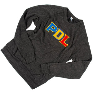 PDL Embroidered Pullover - Dark Grey