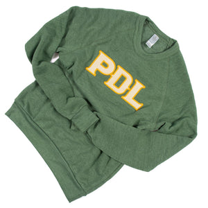 PDL Embroidered Pullover - Verdant
