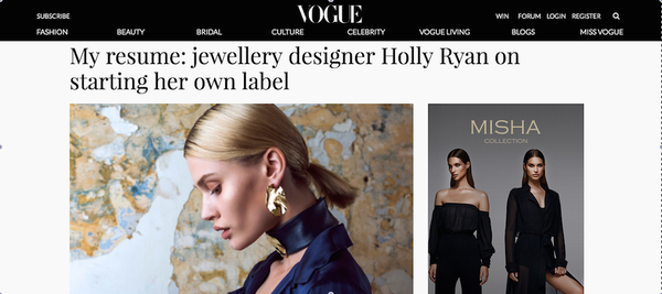 Vogue Online - Interview with Holly On Starting Her Own Label