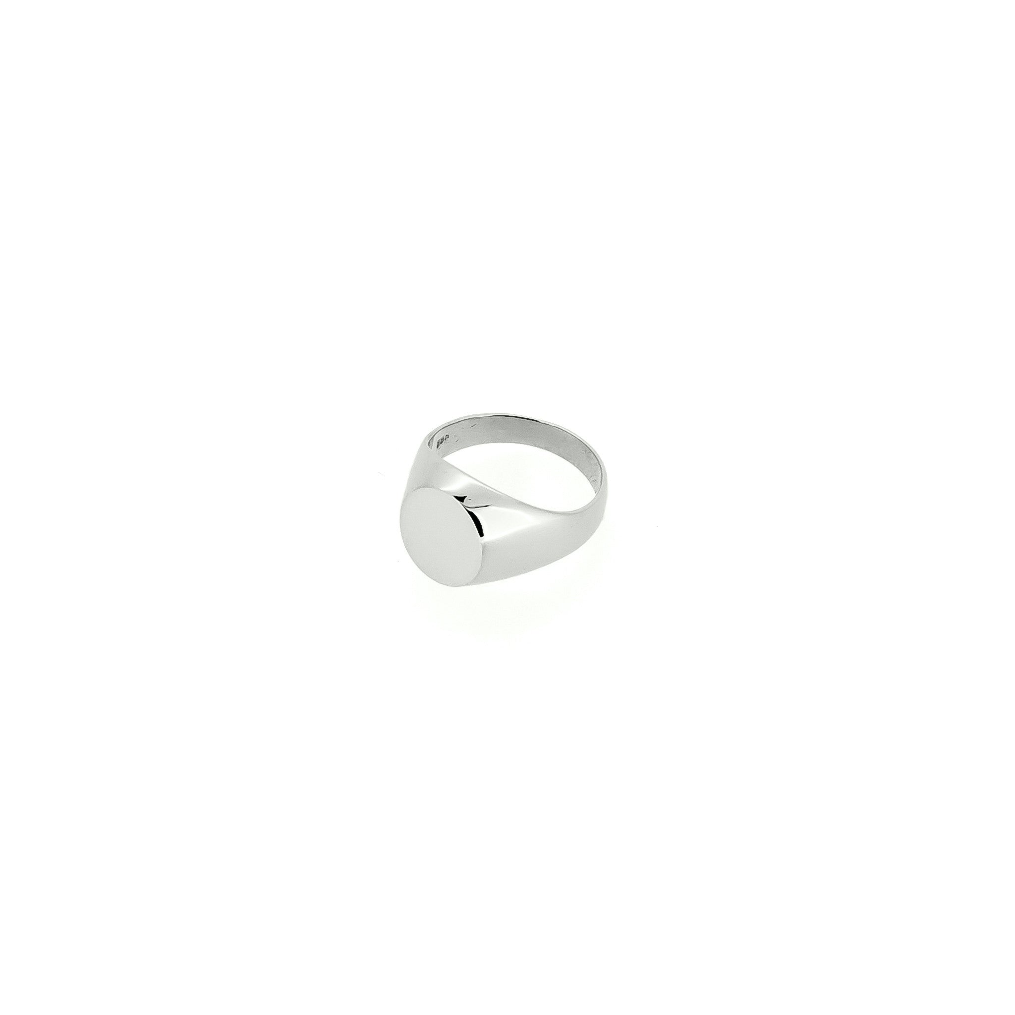 Silver H/R Signet Ring