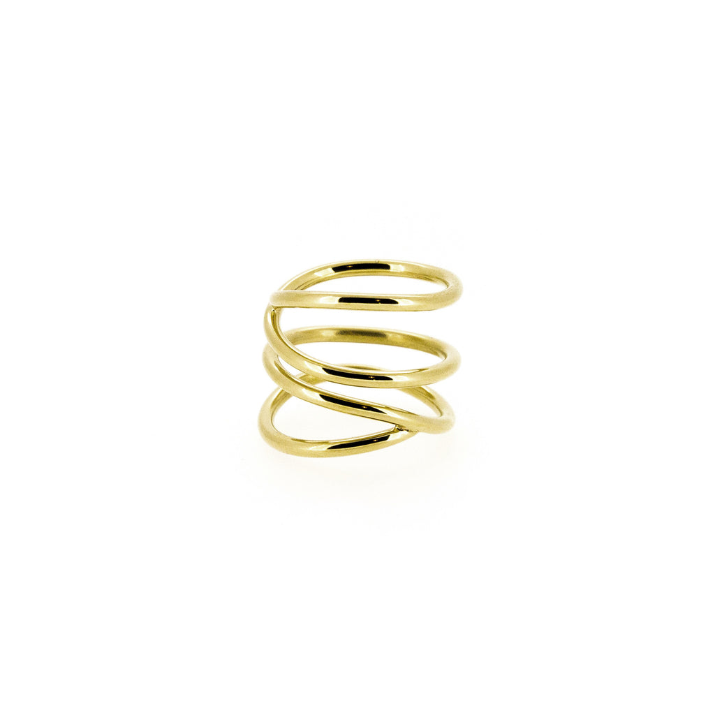 Gold Wavee Wire Ring