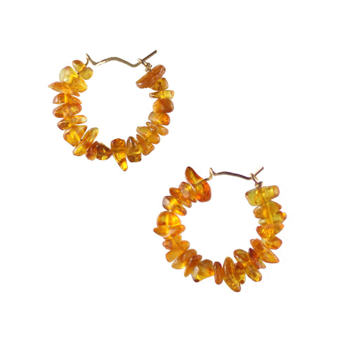 Baltic Amber and Keshi Pearl Drop earrings
