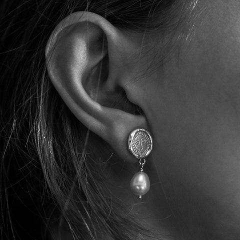 Silver Picasso Bar Drop earrings