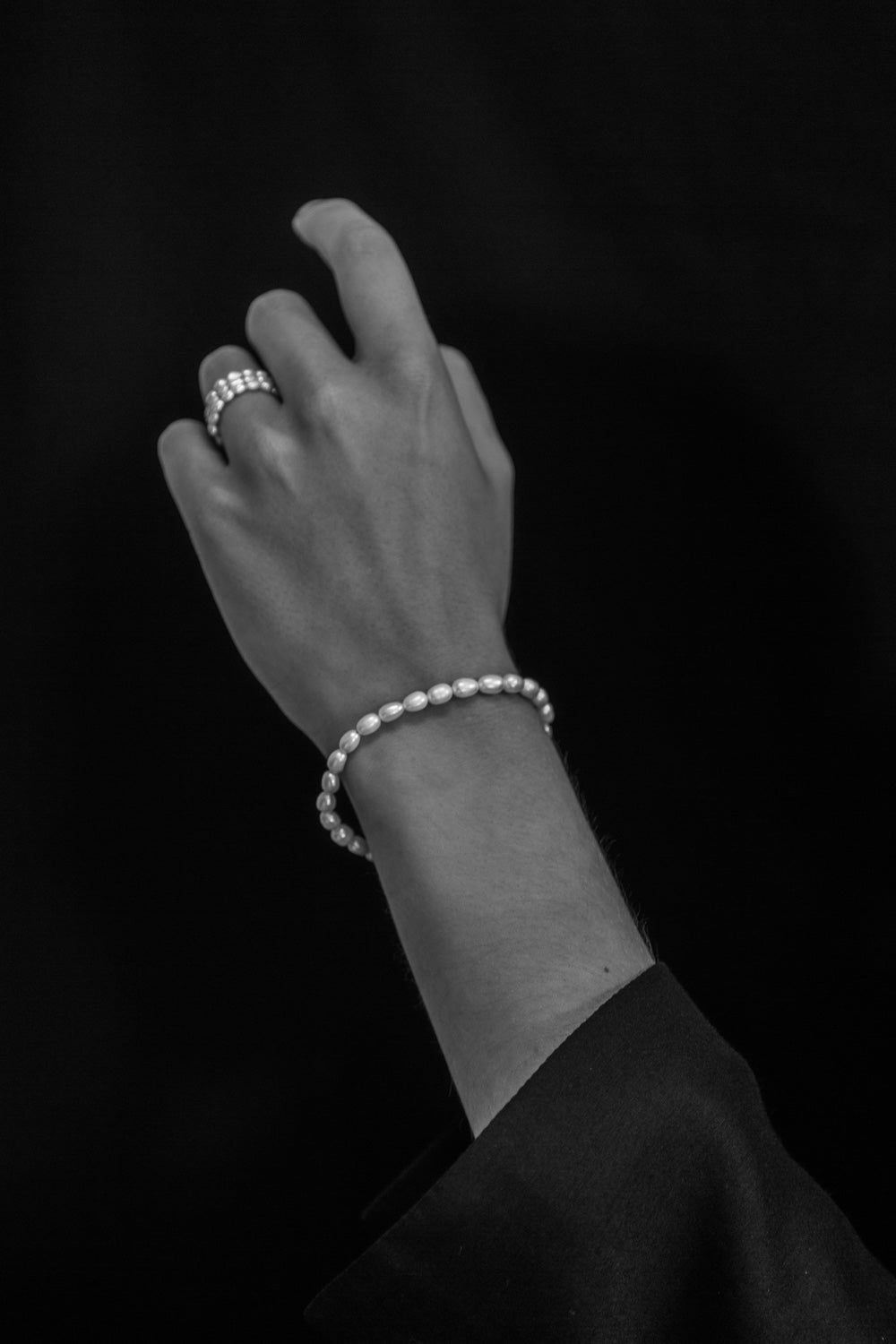 Pearl Spiral ring