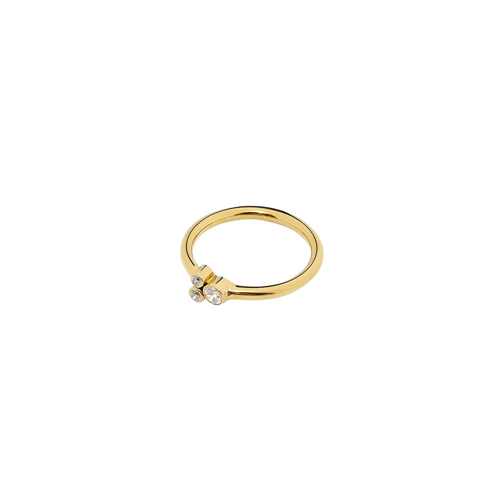Gold Cuatro Estrella Ring with Diamonds