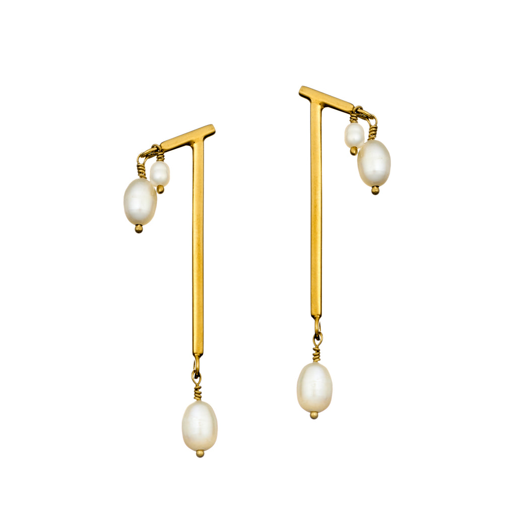 Gold Dew Drop Earrings
