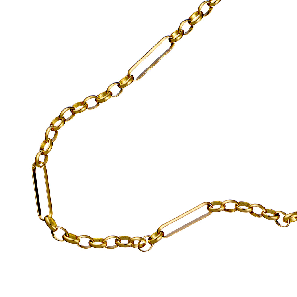 9ct Solid Gold Art Deco Fob Necklace