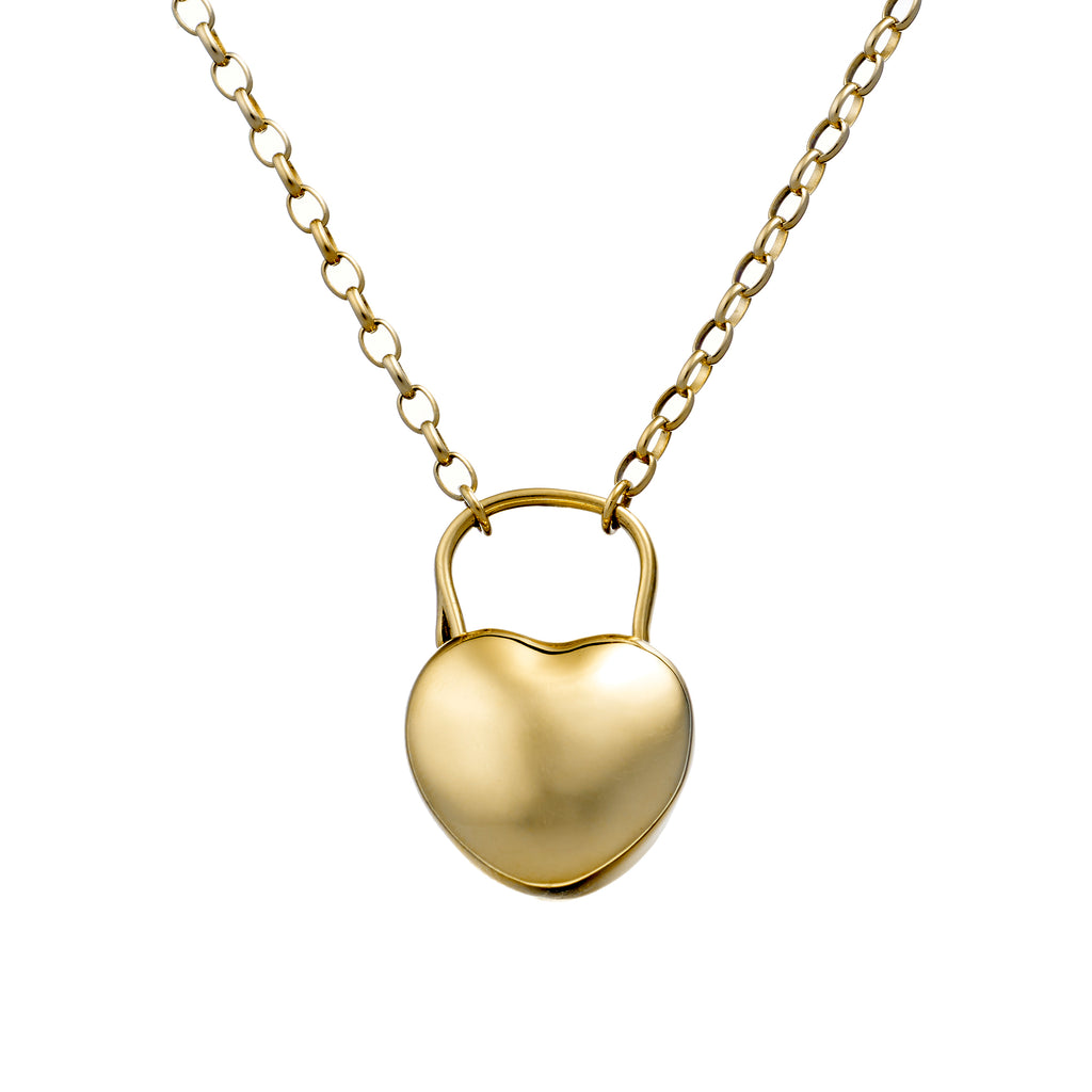 9ct Gold LoveLock Necklace