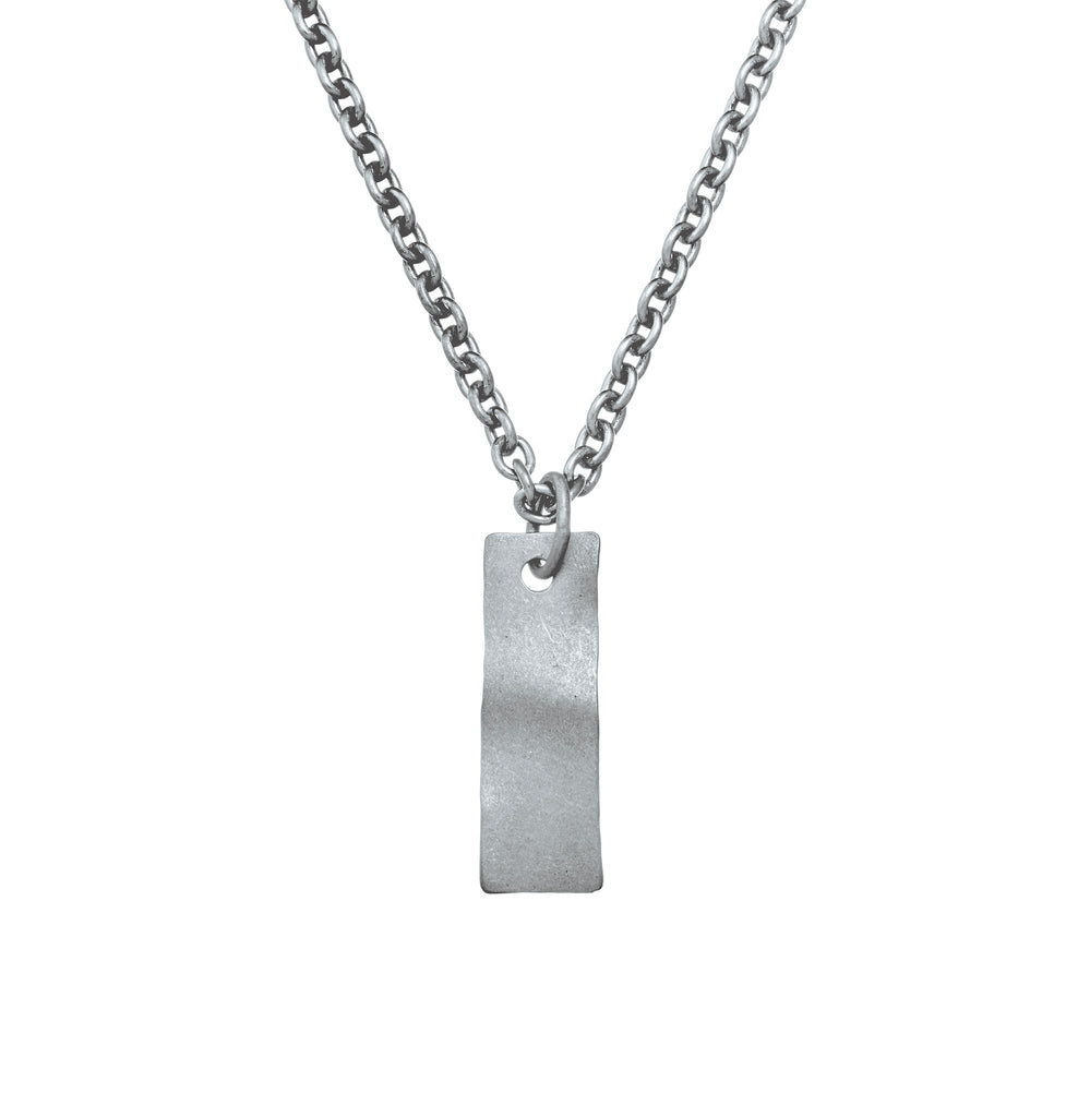 BLACK OXIDISED RECTANGLE WAVEE NECKLACE