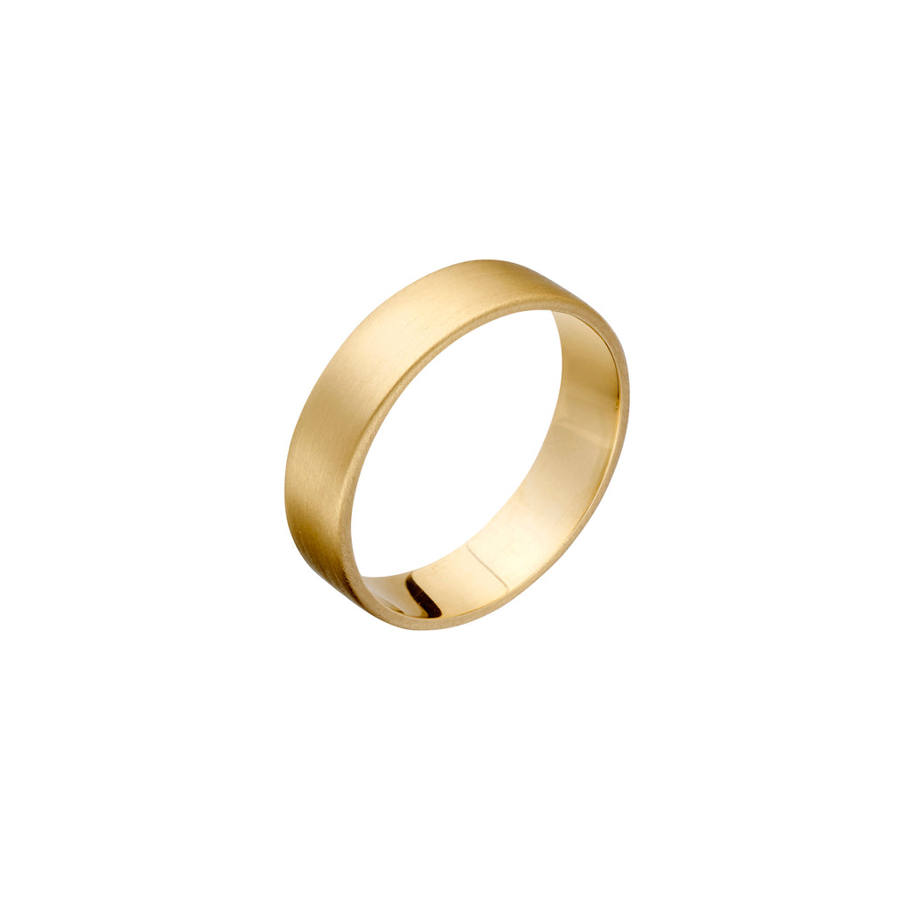 Mens Gold Wide Band Stacker