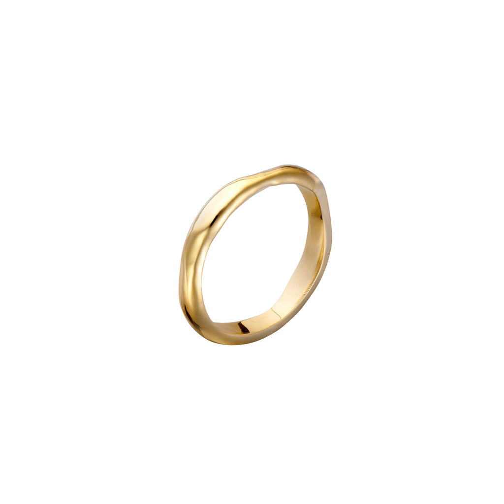 Gold Wabi-Sabi Organic Ring