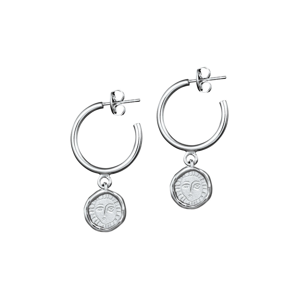 Picasso Hoop Drop Earrings