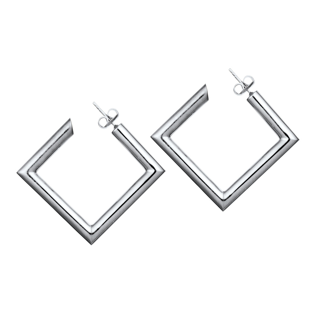 Square Tube Hoop Earrings