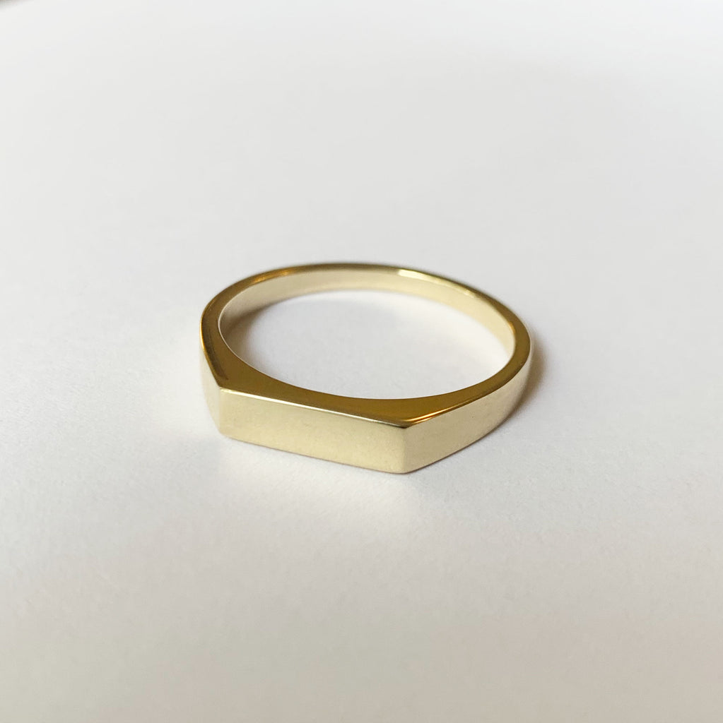 9ct Gold Men's Rectangle Signet Ring