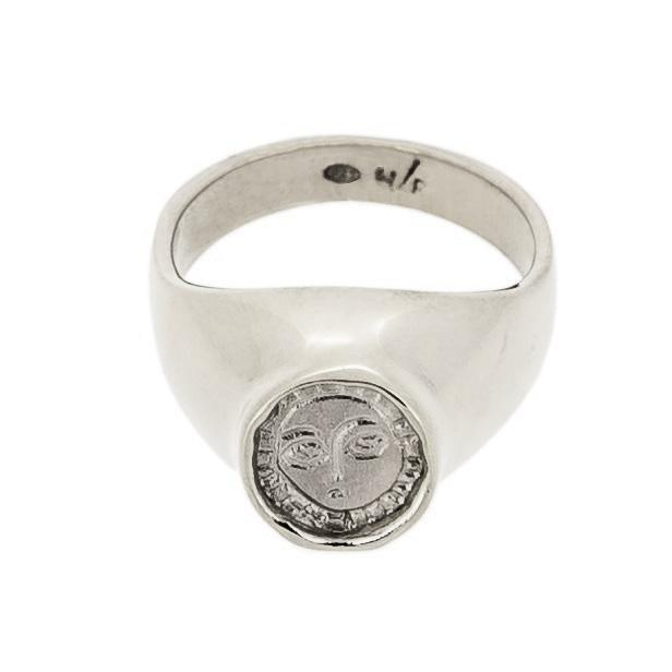 Silver Picasso Signet ring