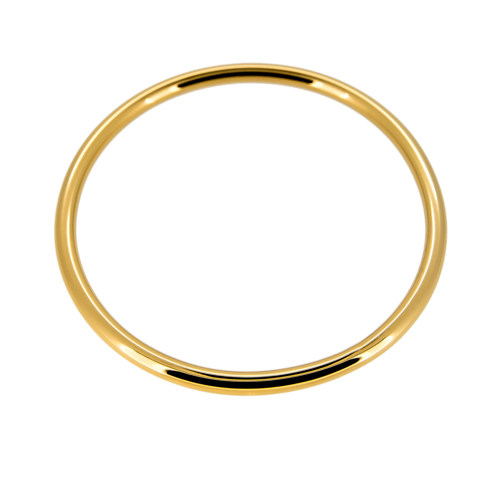Gold Classic Round Bangle