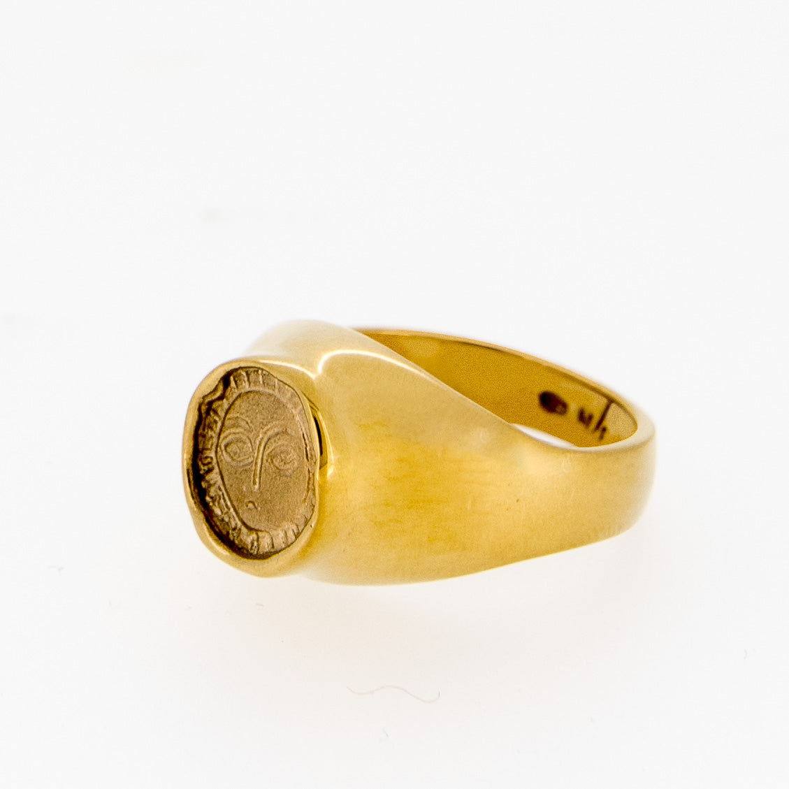Gold Picasso Signet ring