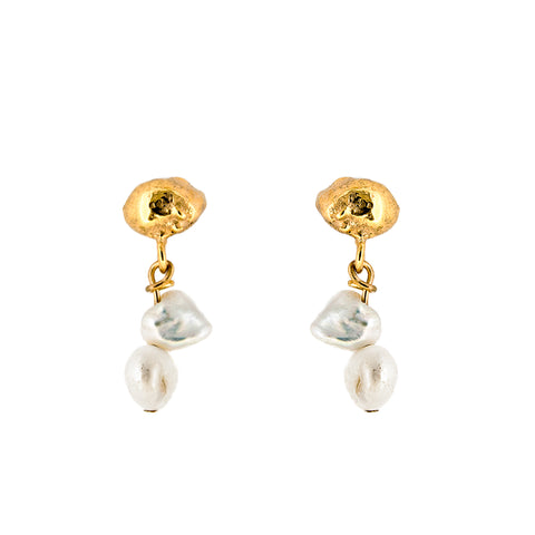 Gold Plated Matisse Studs