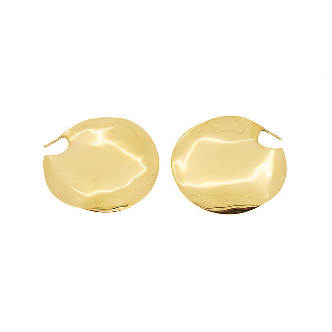 Gold Wavee Earrings - Large