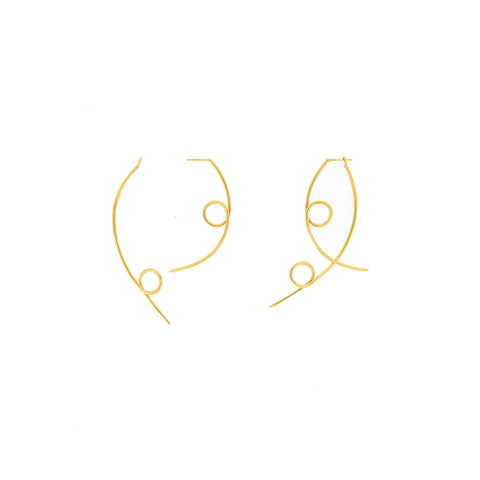 Gold Pescado Earrings