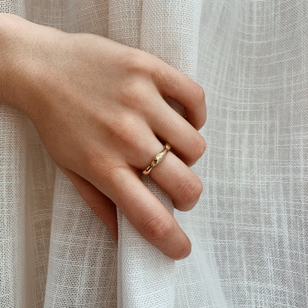 Gold Wabi-Sabi Wide Ring