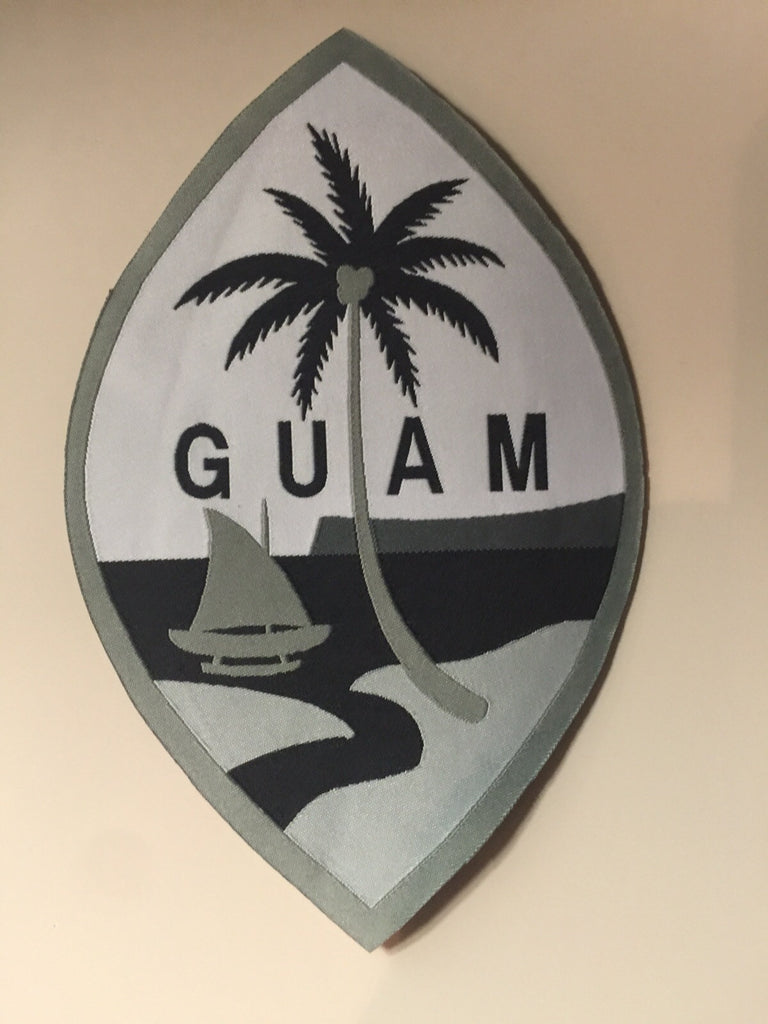 12 Guam Seal Patch Gray/Black 7.5""