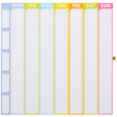 Color Me Organized Chore Tracker Weekly Calendar Magnetic Pad-Lulalu