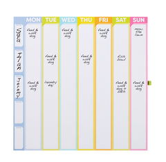 Color Me Organized Chore Tracker Weekly Calendar Magnetic Pad