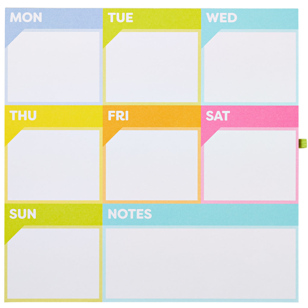 Color Me Organized Planner Weekly Calendar Magnetic Pad
