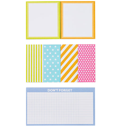 Color Me Organized Repositionable Vivid Sticky Notes-Lulalu