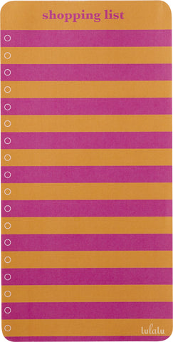 Lulalu Shopping List Pad Warm Stripes-Lulalu