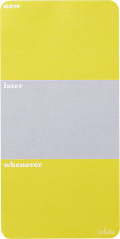 Lulalu List Pad Now Later Whenever Stripe Grey Yellow-Lulalu