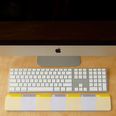 Lulalu Desk & Keyboard List Pad Weekly Stripes Grey & Yellow-Lulalu